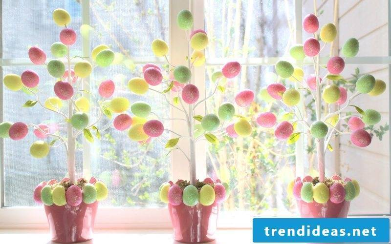 Crafting ideas for Easter: making Easter shrub
