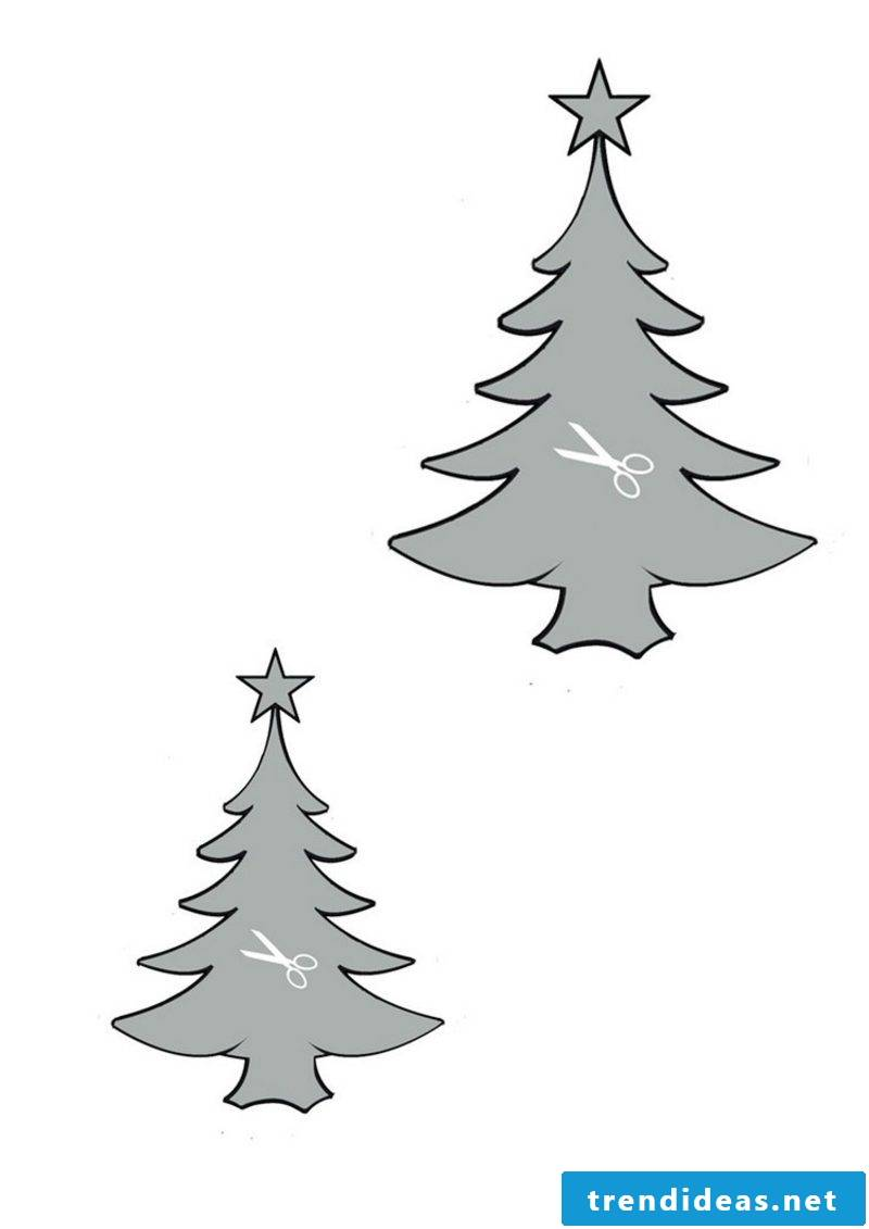 Craft templates for Christmas stencils firs