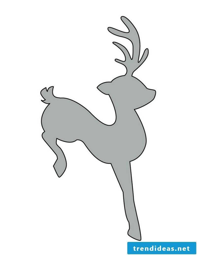 Crafting templates for Christmas stencils reindeer