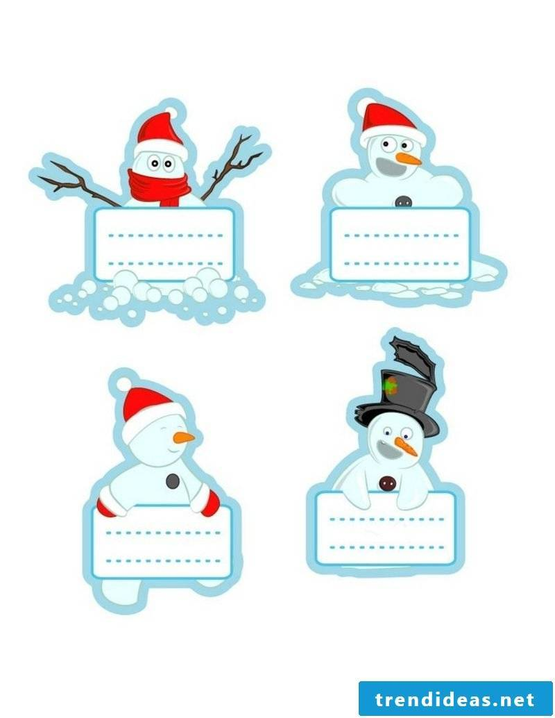 Craft templates for Christmas original labels