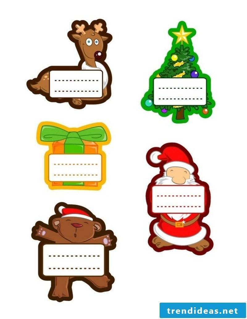 Craft templates for Christmas labels