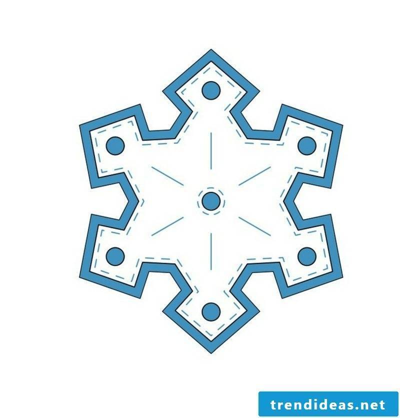 Crafting templates for Christmas tree ornaments felt snowflake