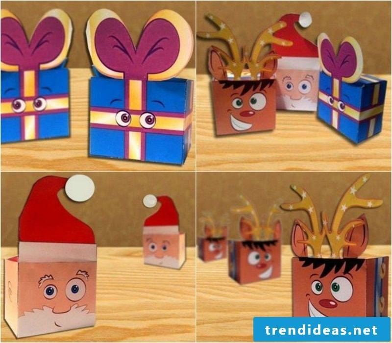 DIY ideas crafting Christmas funny gift boxes yourself