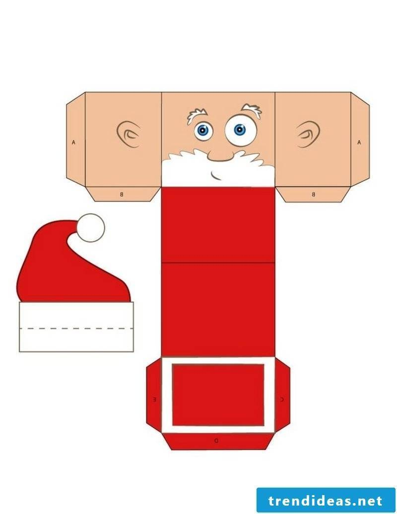 Christmas Templates Funny Christmas Gift Box Santa Claus