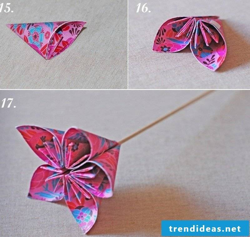 DIY origami flower instructions