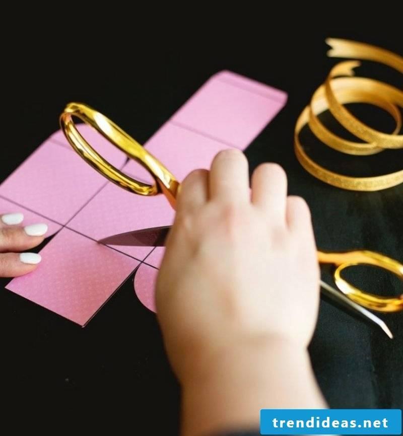 Paper box folding craft templates