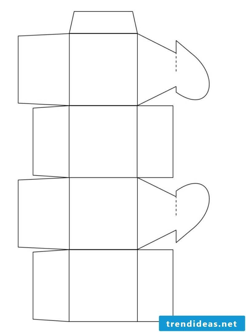 Crafting Paper box folding heart
