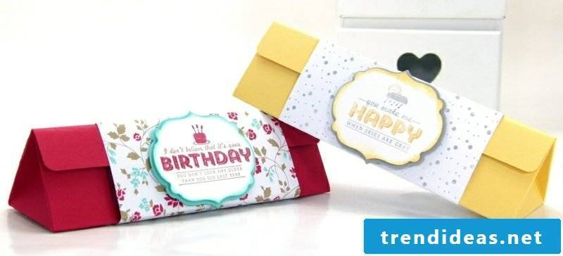 Make Birthday Gift Paper Box Fold