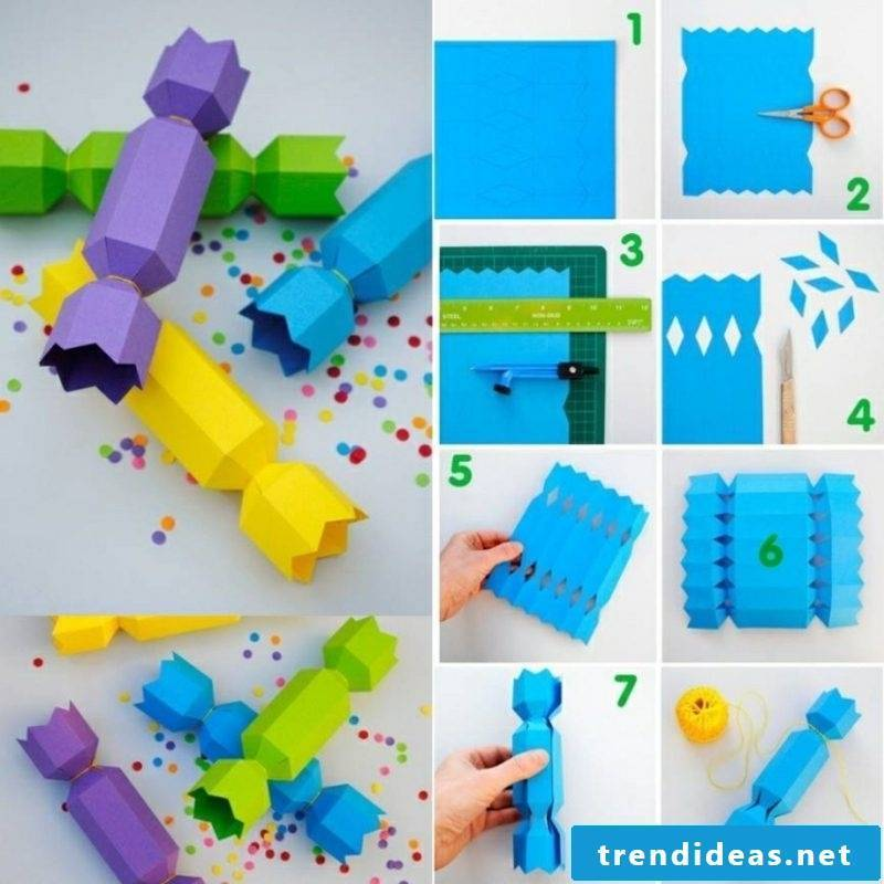 Tinker with paper paper box folding chocolate candy