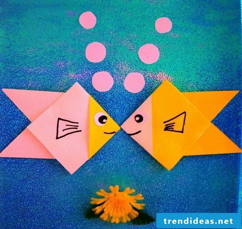 simple craft ideas origami fish