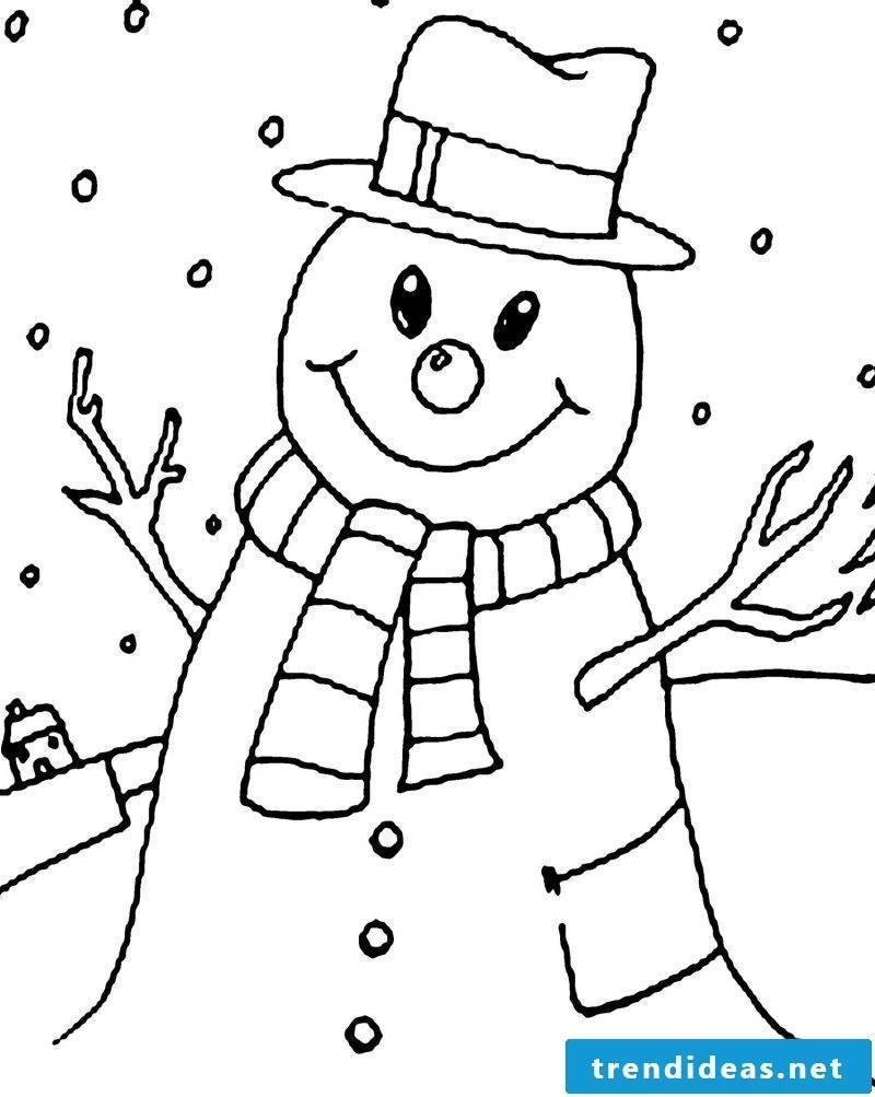 Coloring pages for Christmas Weihanchtsmann painting