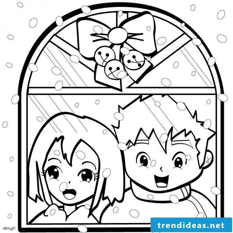 Coloring Pages for Christmas Window Color