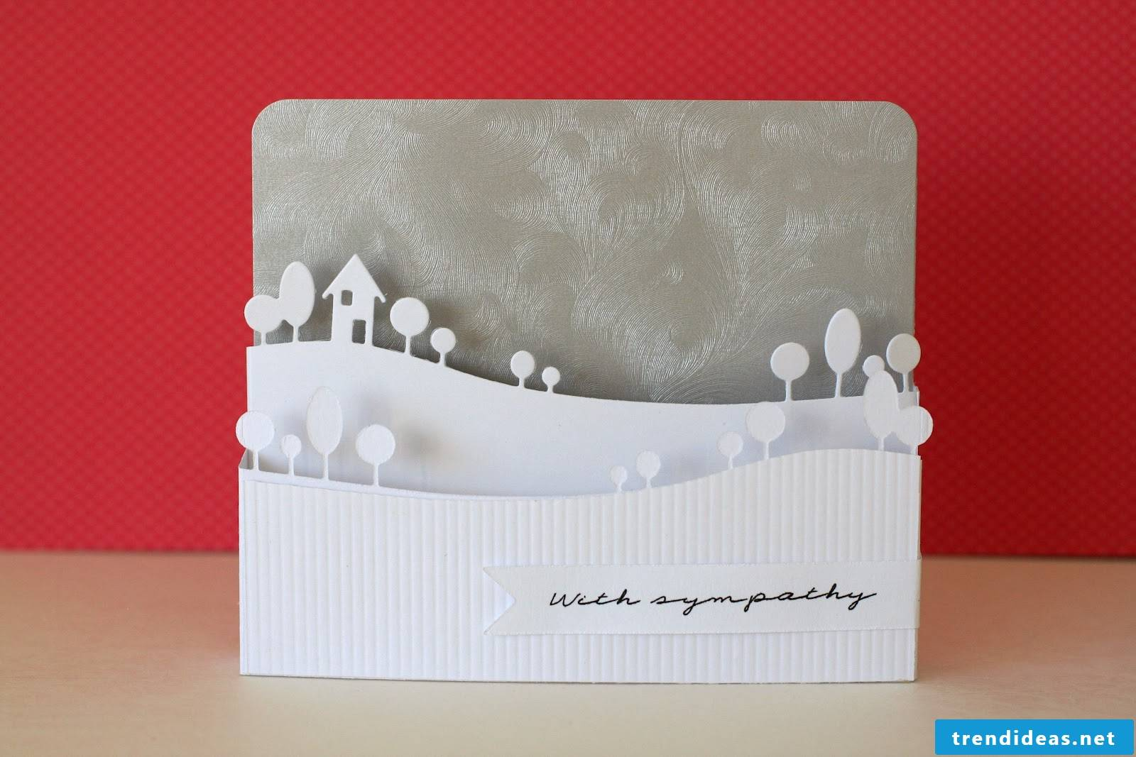 3D Christmas card - how do you manage this result?