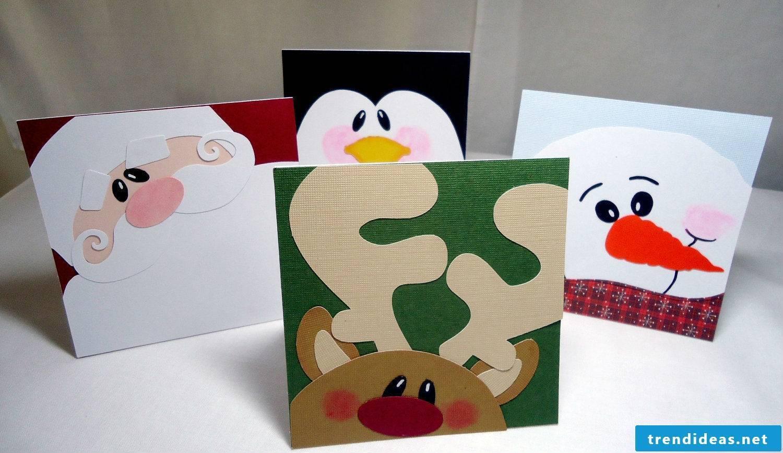 Many Christmas cards make motifs
