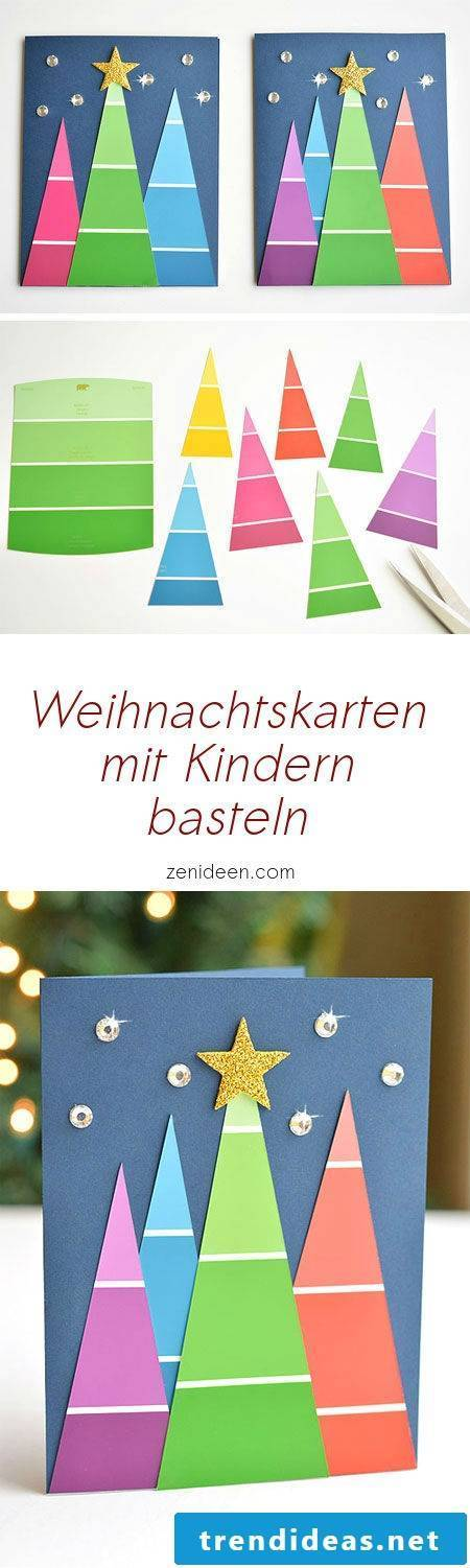Make ideas for Christmas cards with children