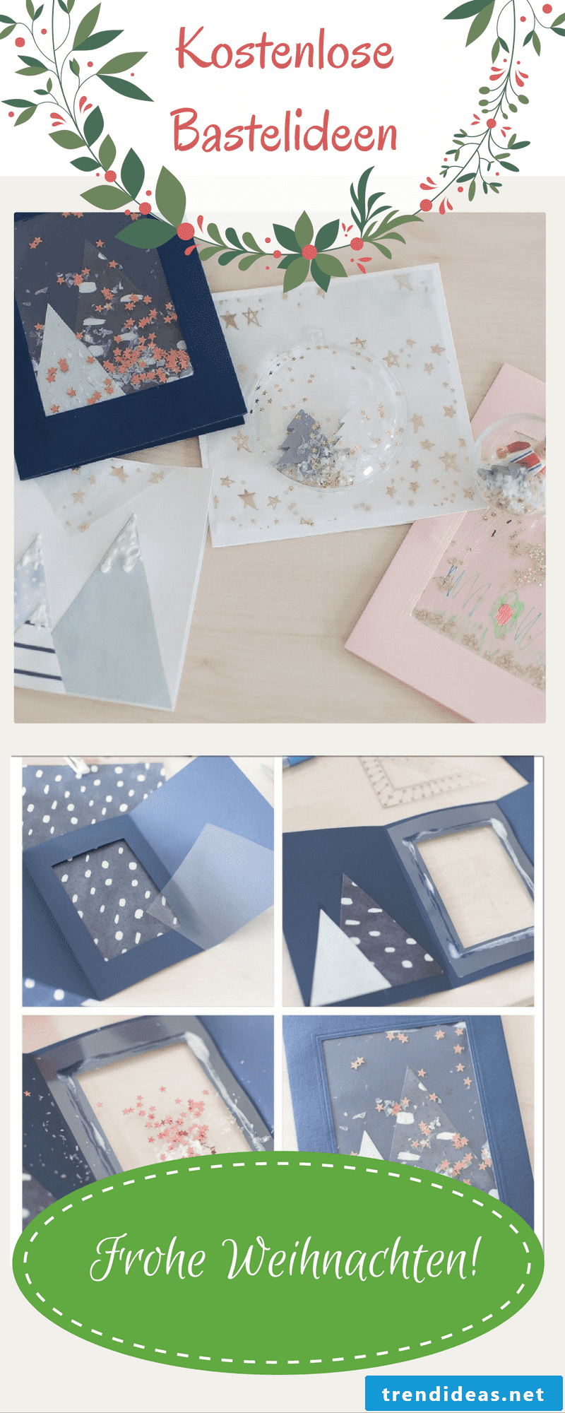 Many great craft ideas, how to make your own Christmas card