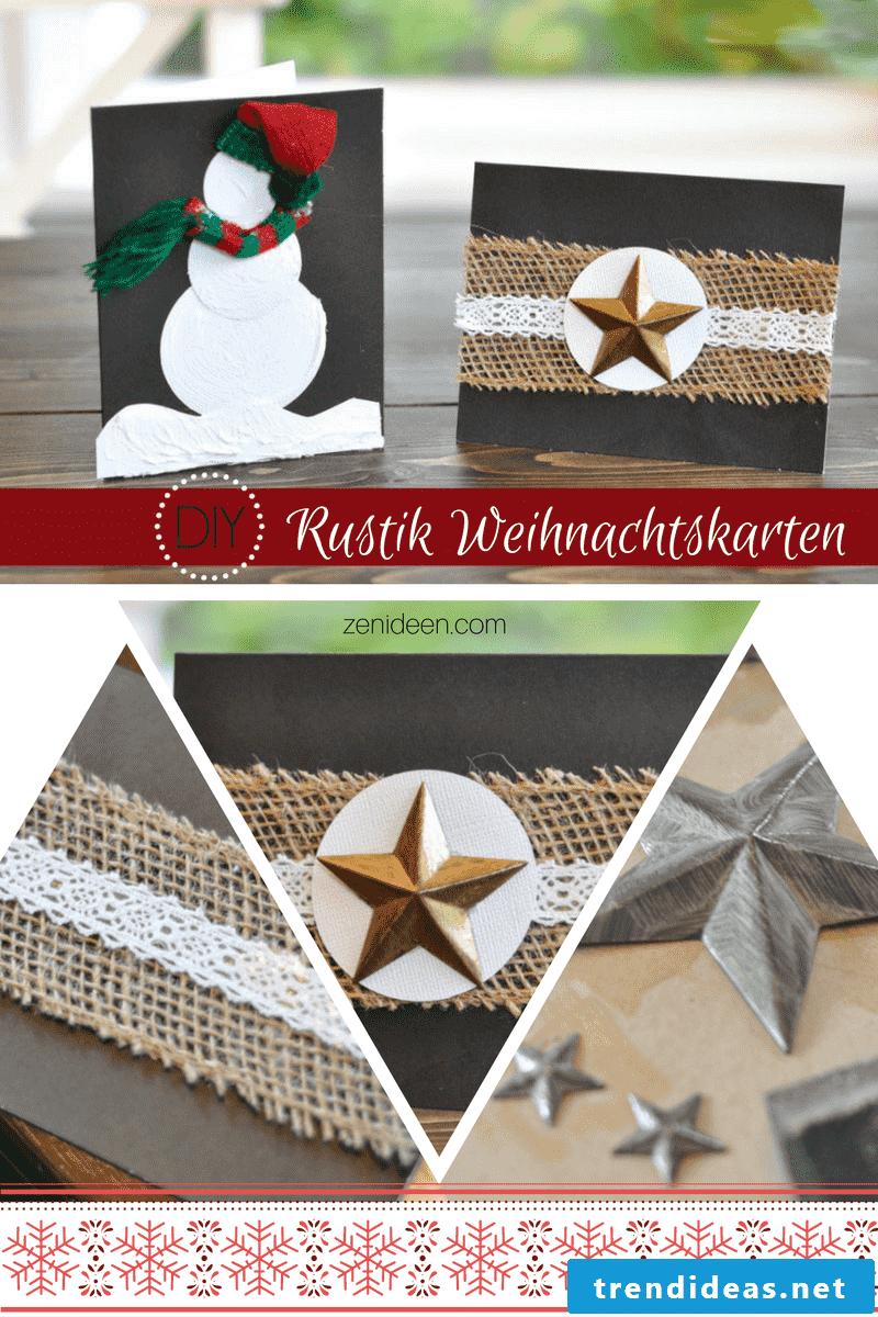 Make DIY Rustic Christmas Cards