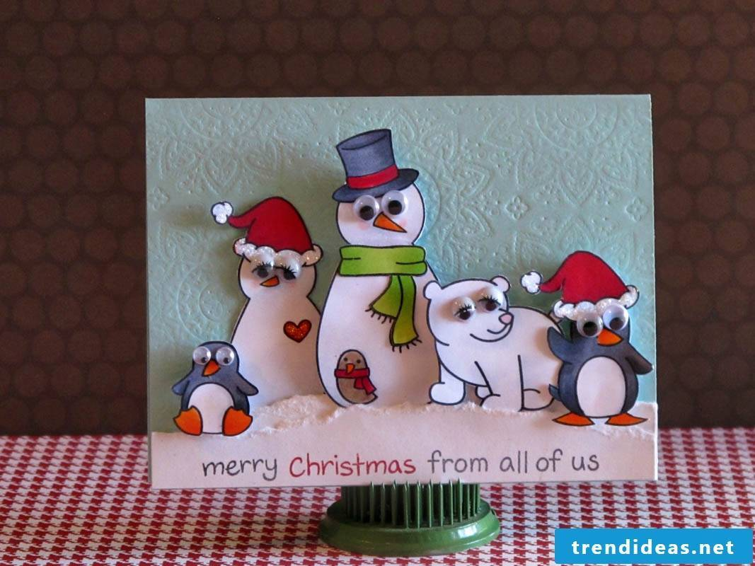 How can you make this Christmas card?
