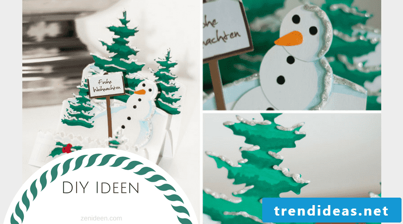 Here you will find many DIY ideas for Christmas cards crafts with a 3D effect
