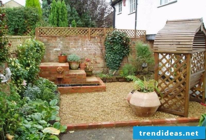 Create a gravel garden to create a relaxation corner