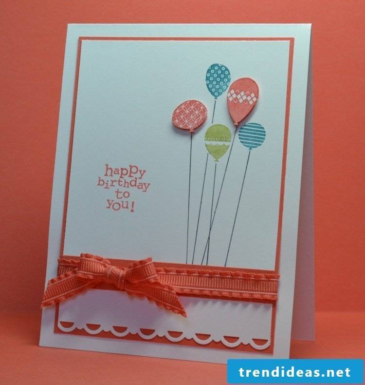 birthday card frame orange