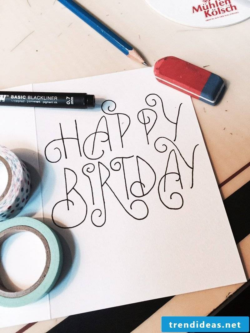 birthday card design yourself