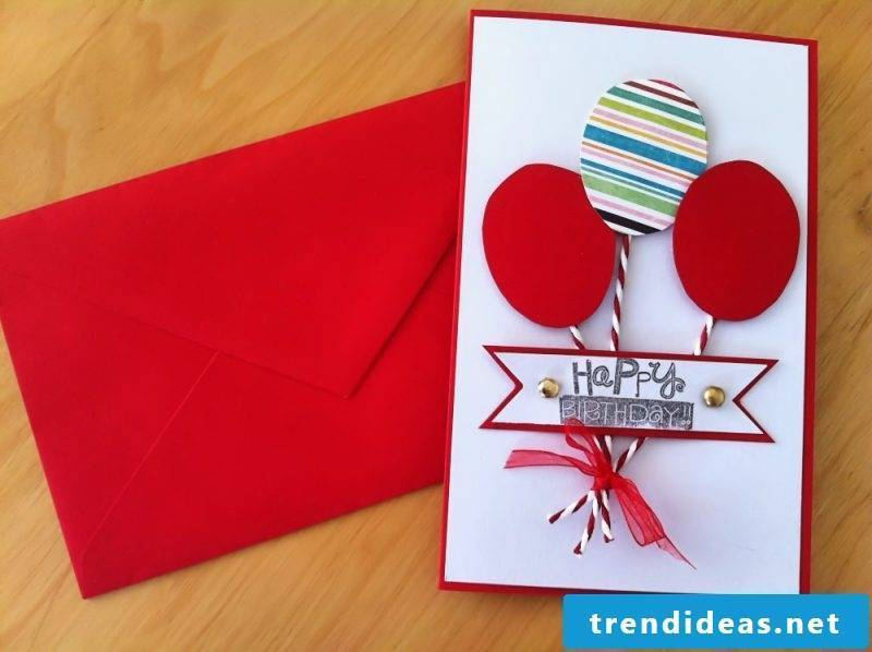 birthday card frame red