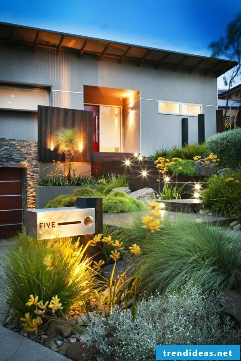Front garden shape LED lights gorgeous look