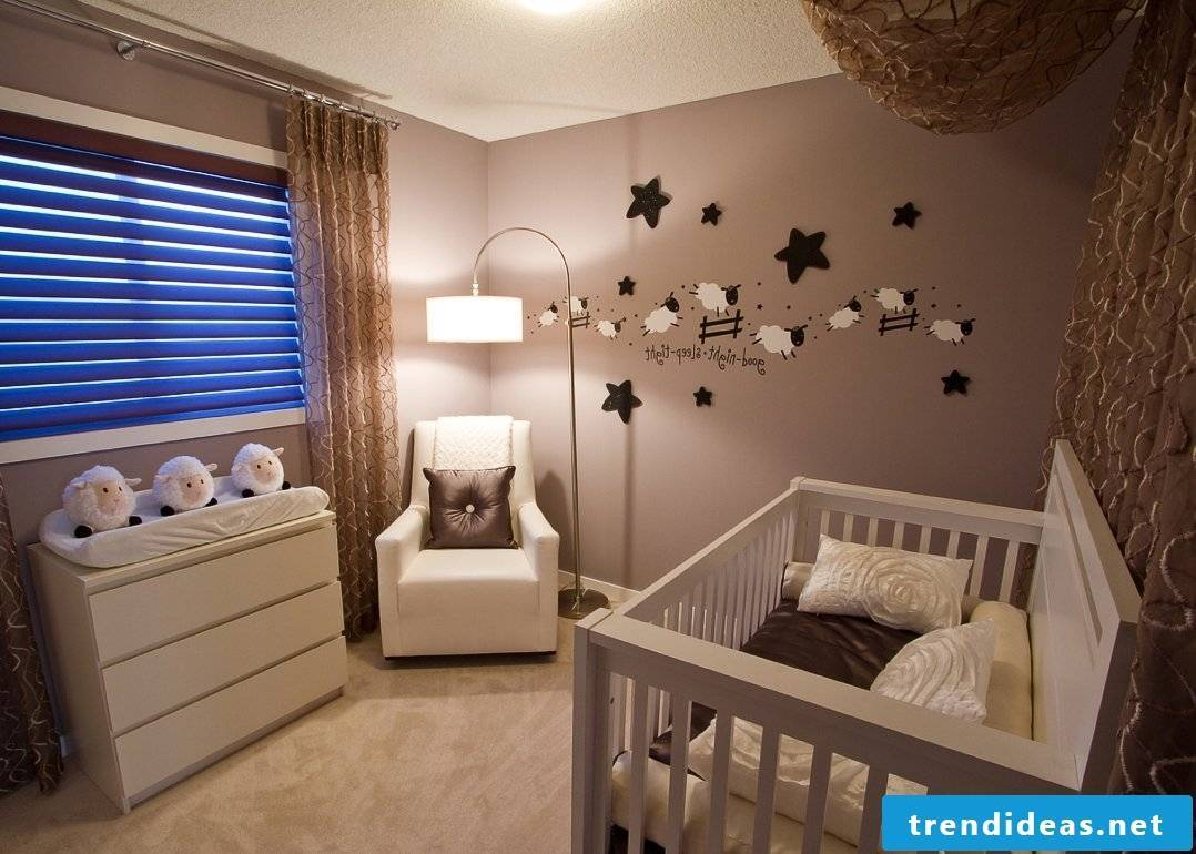 The baby room - soft colors and a lot of coziness