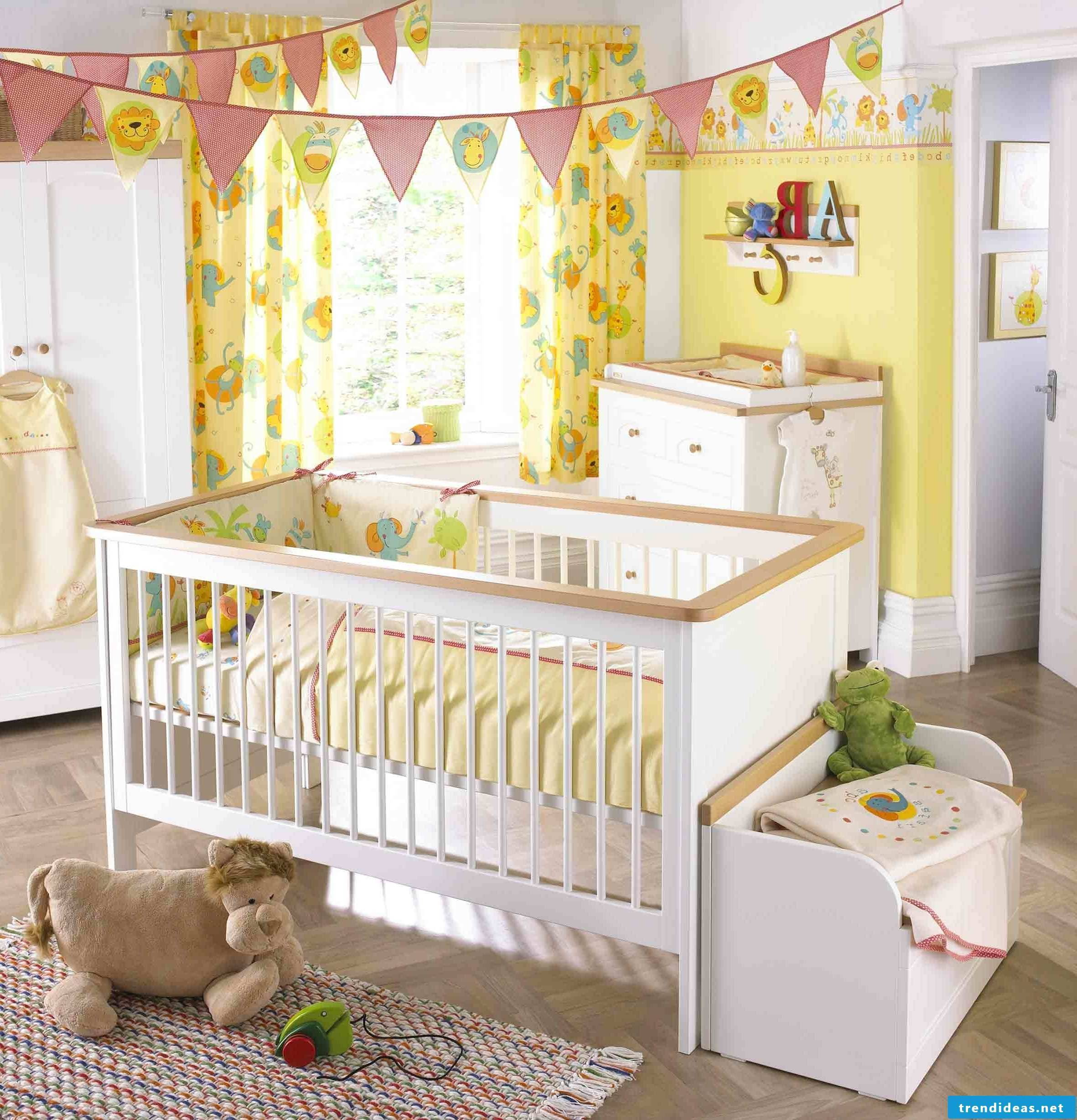 Baby nursery in soft colors