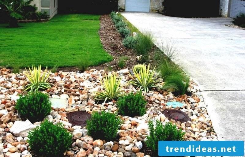 Create a stone bed for a dreamlike garden