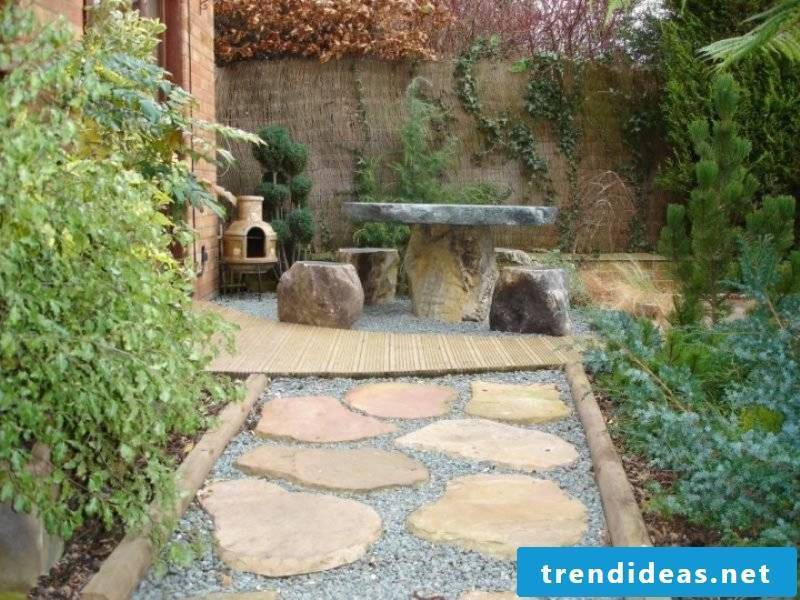 Creating a stone bed: Combine wood and stone