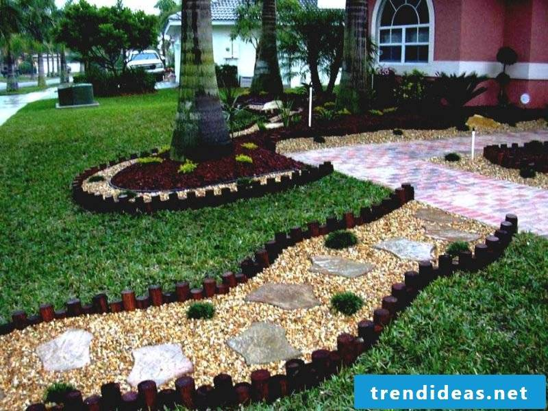 Create a stone bed to build a way to the house