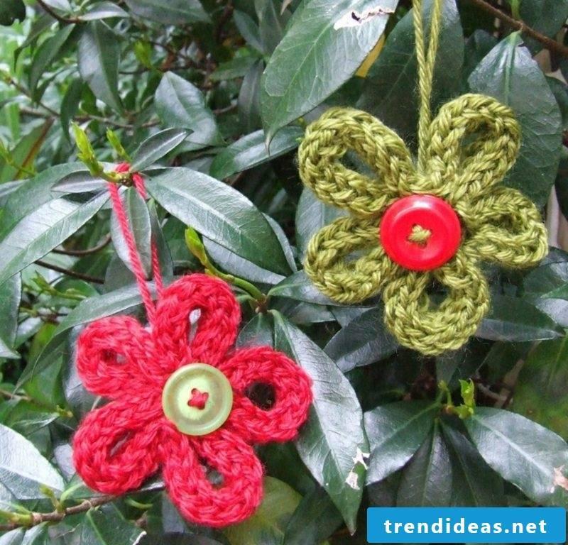 Craft Ideas Strickliesel Dekoblumen knit