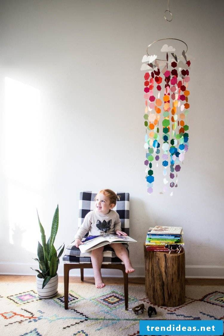 Colorful mobile for kids
