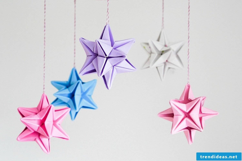 Christmas stars mobile as a Christmas decoration