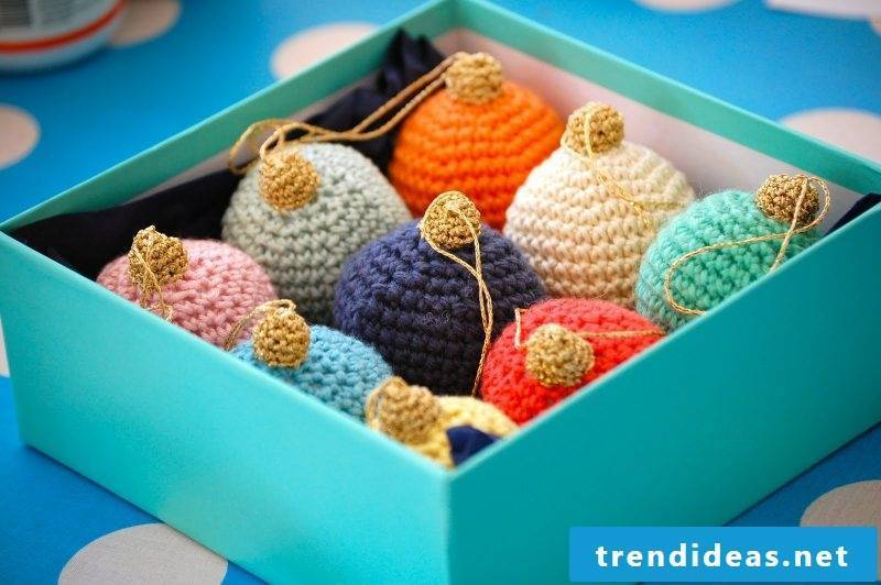 Crochet for Christmas baubles