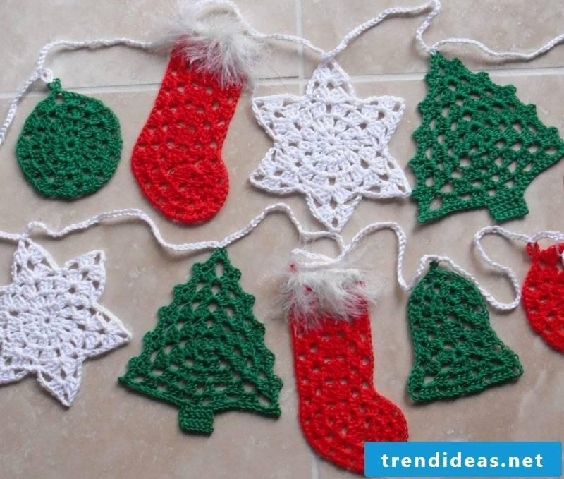 Crochet for Christmas garland