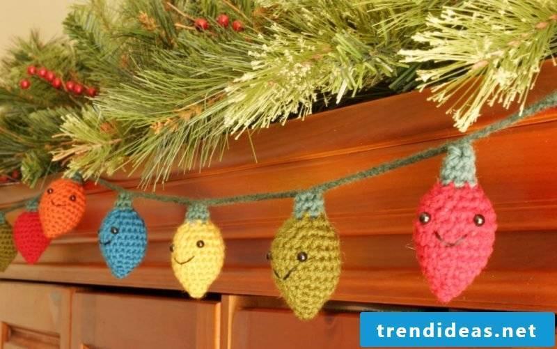 Crochet for Christmas light chains
