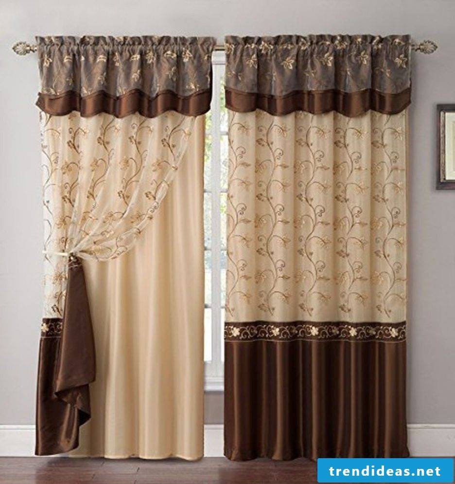 Curtains slightly sewn - imaginative design