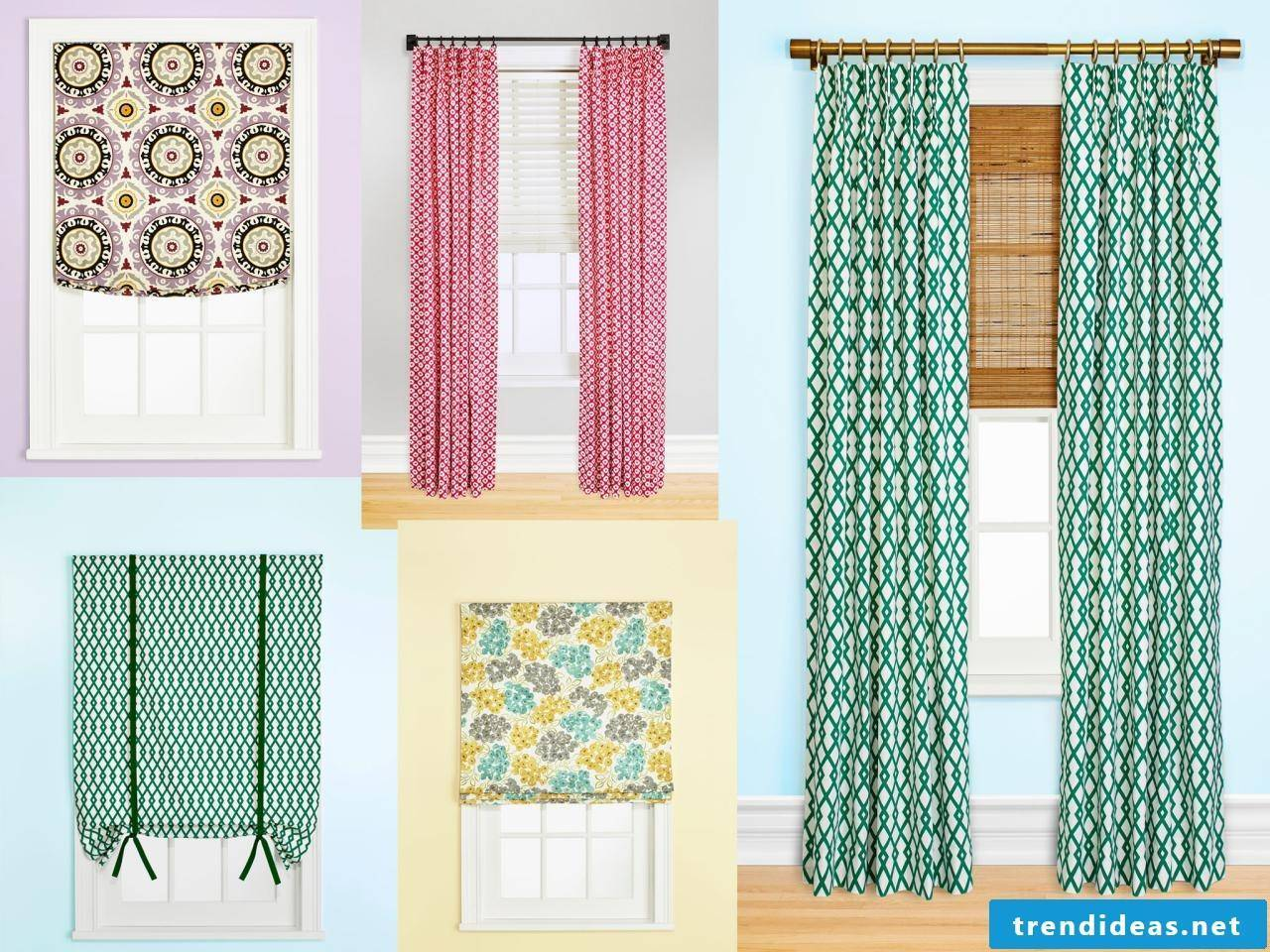 different designs and types of curtains