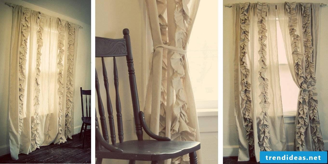 Self-sewn curtains