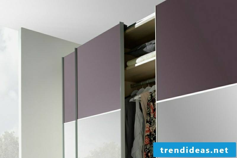 made-to-measure purple-beige wardrobe