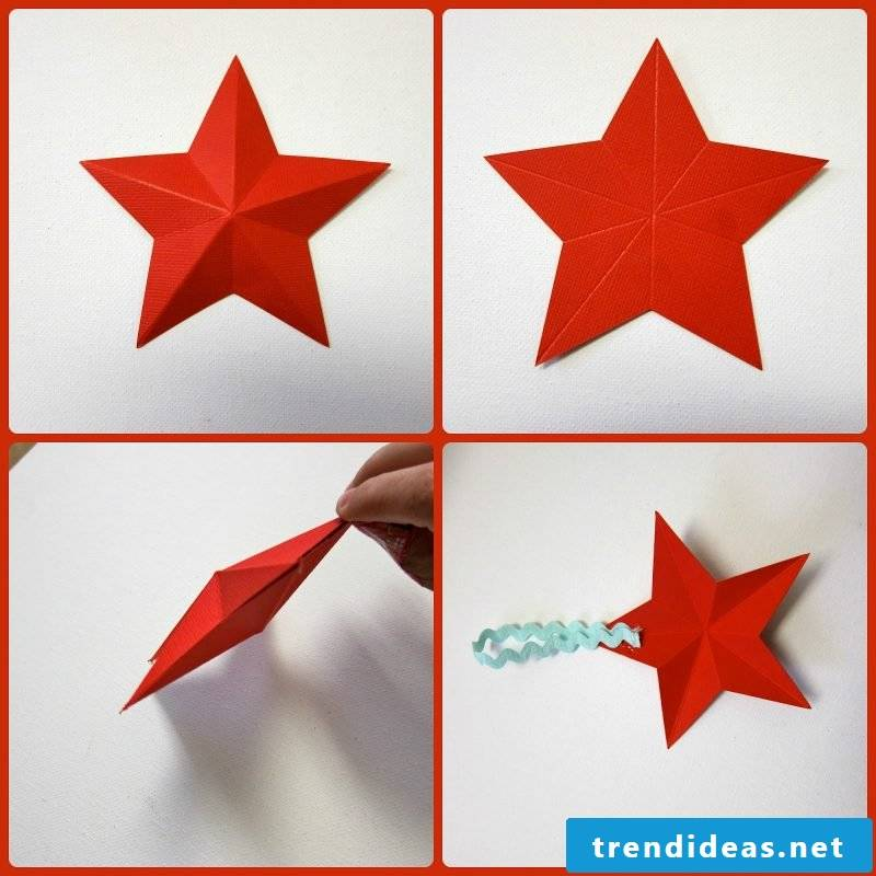 origami stars red