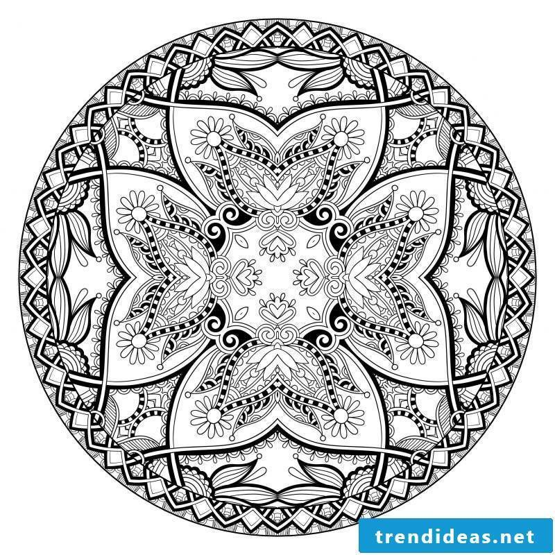 Mandala pictures for coloring have personal meaning