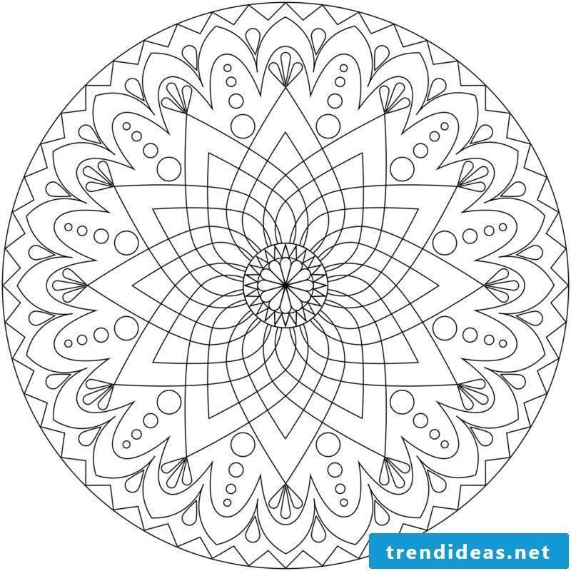 Mandala templates self-healing