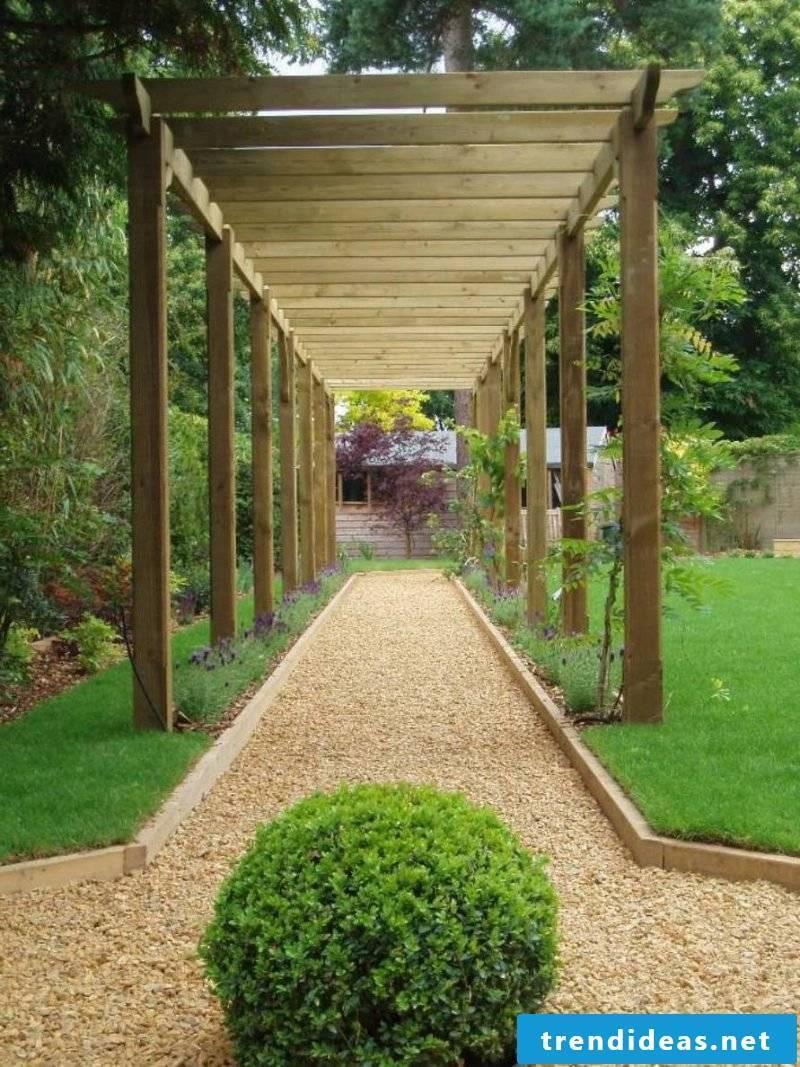 Create gravel garden - instructions gravel path