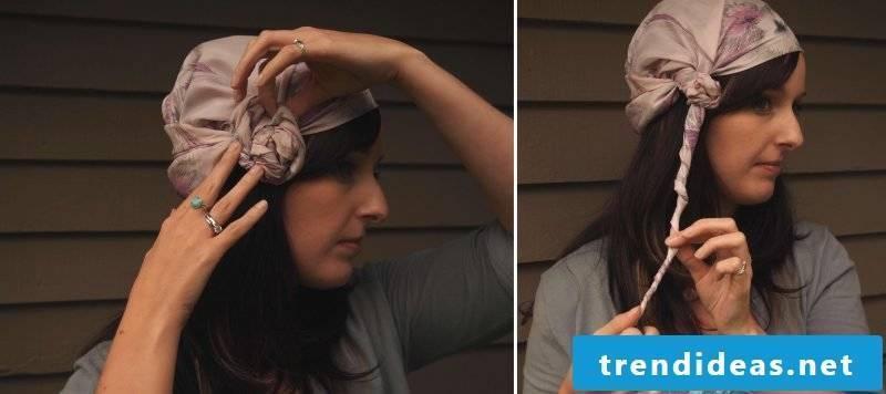 Headscarf tie knot