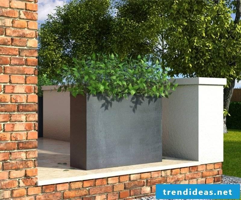 Concrete planter Olivia Black