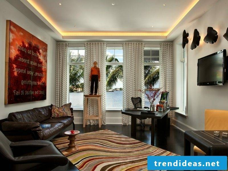 Living room attractive lighting indirectly ceiling
